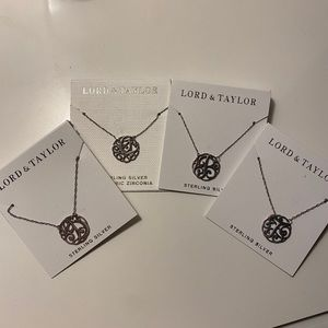 Letter plate necklace